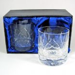 Crystal Whisky Glasses PAIR Personalised Engraved, ref CWP04
